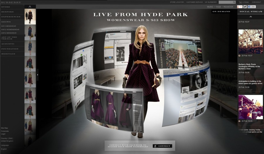 Burberry's digital-focused strategy