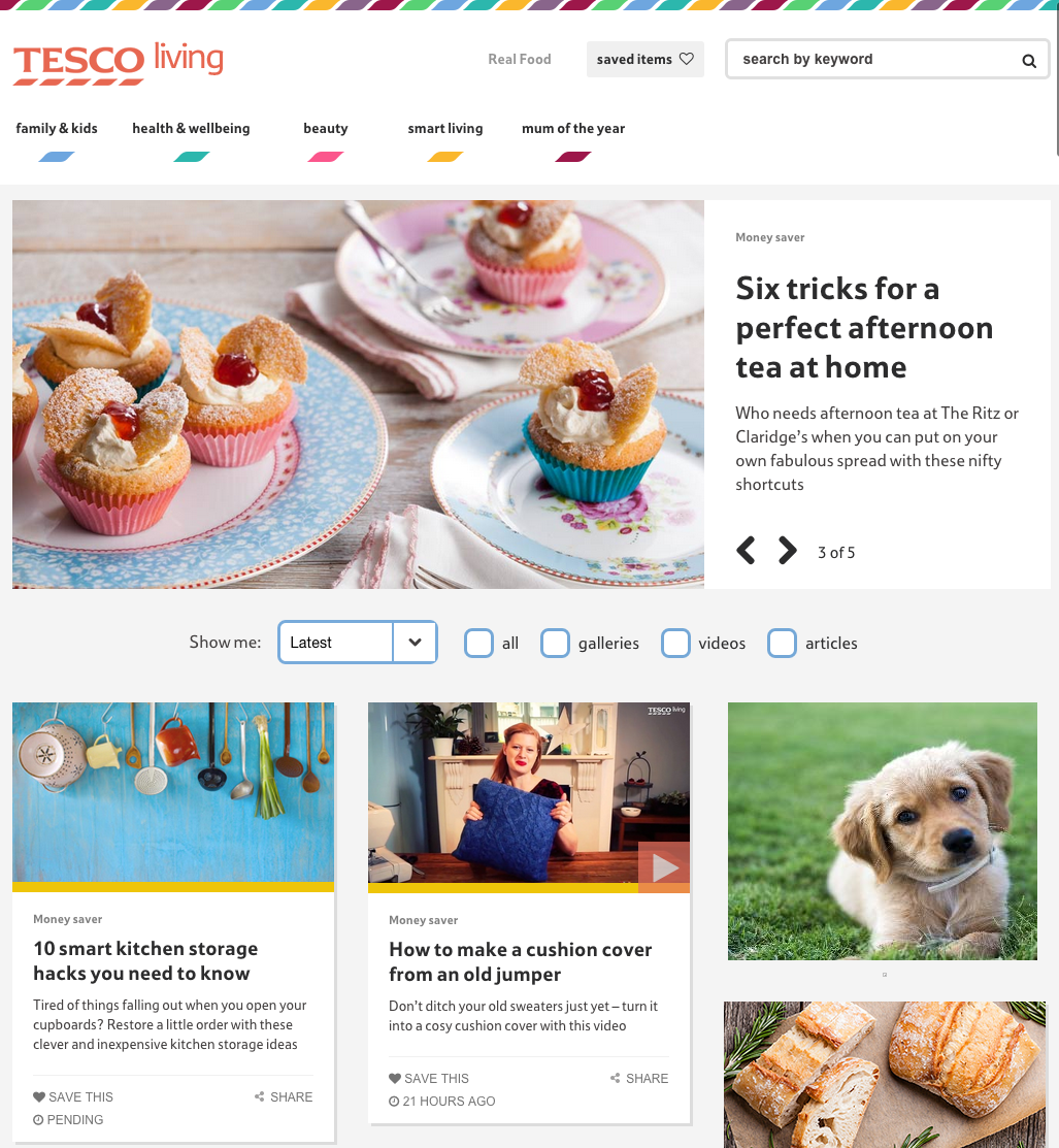 Tesco Living blog