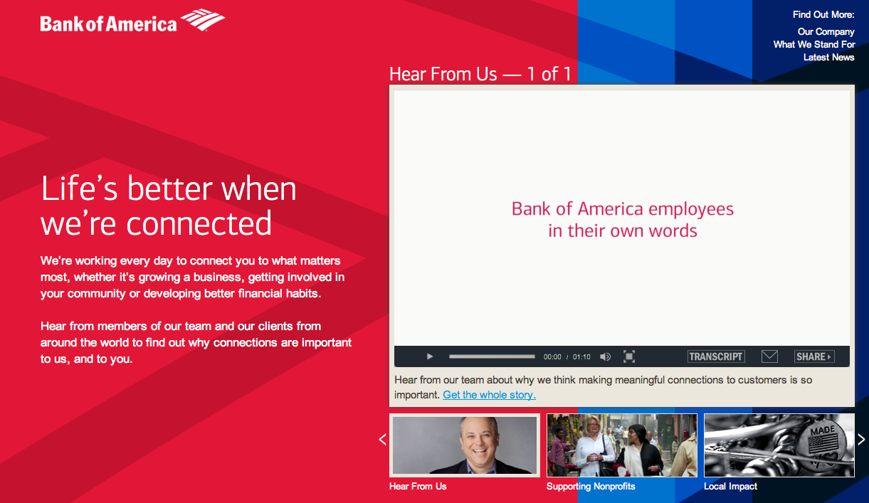 Bank of America used social media