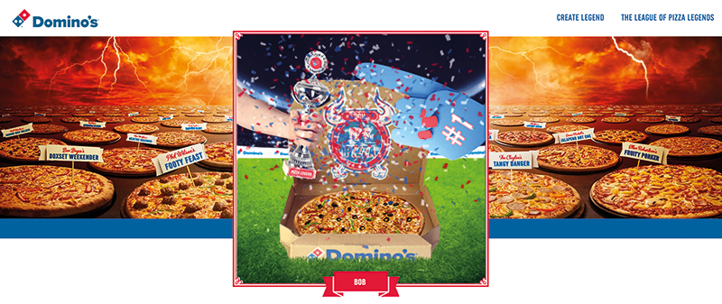 Dominos - Pizza Legend - a personalized experience to customer