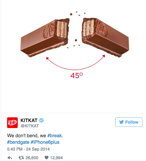 We don't bend, we break - Kitkat