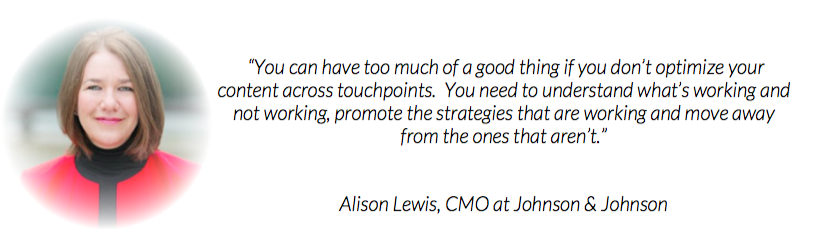 have a test, learn & grow approach says Johnson & Johnson CMO Alison Lewis